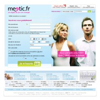 homepage du site meetic