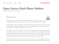Open Source Flash Player petition