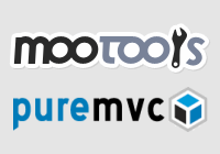 Mootools and PureMVC logos