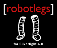 Robotlegs for Silverlight logo more than inspired by the official robotlegs for ActionScript 3.0 logo